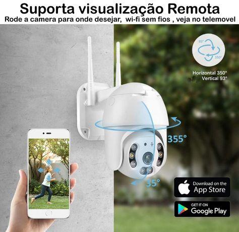 camera ptz HD 1080p rotativa exterior android ios telemovel internet
