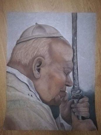 100 lecie Papieża!!! Ręcznie malowany obraz Jana Pawła II