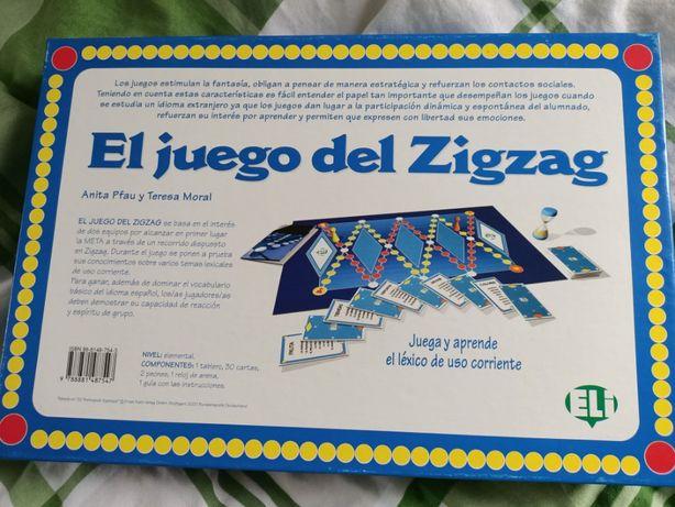 Gra językowa edukacyjna, hiszpański - El Juego del Zigzag