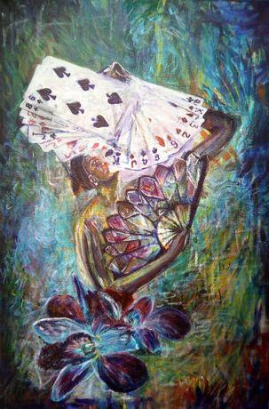 Obraz akrylowy ręcznie malowany Oddanie G. Lazarek 60 x 40