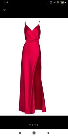 Платье красное вечернее впол
