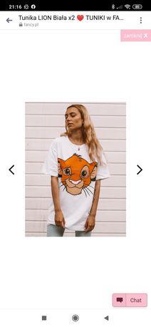 Dłuższy t-shirt UNI