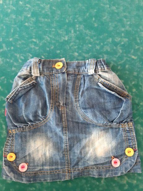 продам джинсовую юбку на девочку