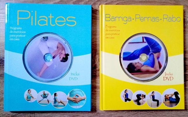 Livros Pilates e Abdominal Pernas e Rabo
