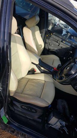 Fotele BMW E53 X5 skora sporty sportsitze grzane jasne kremowe komplet