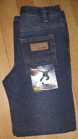 Spodnie jeans 134 nowe Dakar