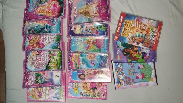 Bajki DVD dla dzieci zestaw Barbie Scooby-Doo Lego