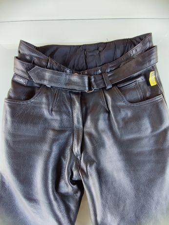 Spodnie Polo, skóra, motocyklowe, damskie r. 40