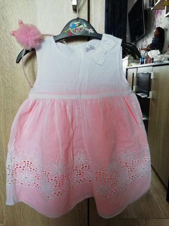 F&F фирменное платье платьице пышное 12-18 мес кружево обруч