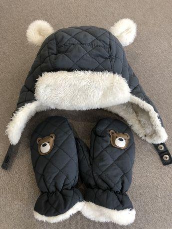 Комплект зимний (шапка и рукавицы, варежки)
