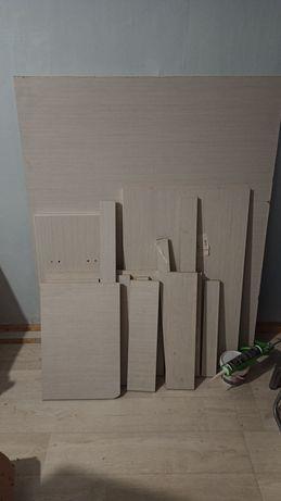 Листы ДСП белые мебель