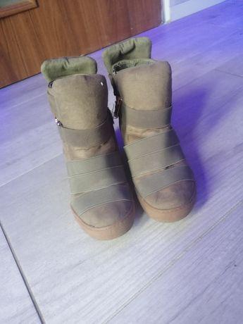 Botki Sneakersy Khaki