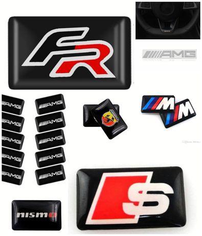 Sticker Autocolante símbolo Abarth BMW ///M AMG Sline Nismo FR Pack 4