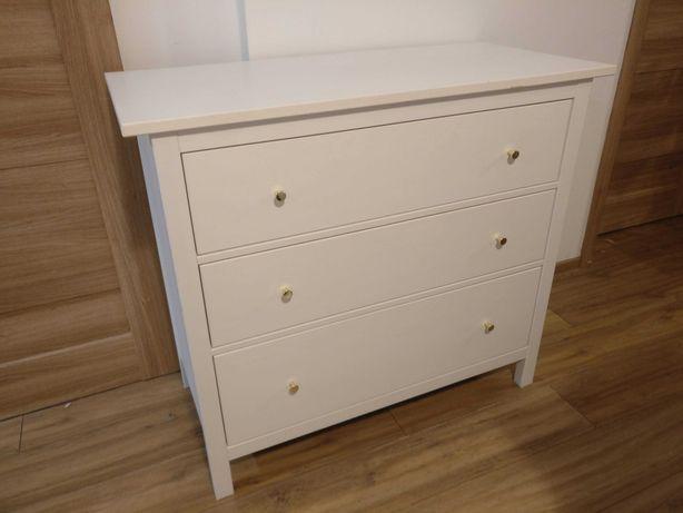 Komoda, 3 szuflady, biała bejca - IKEA Hemnes