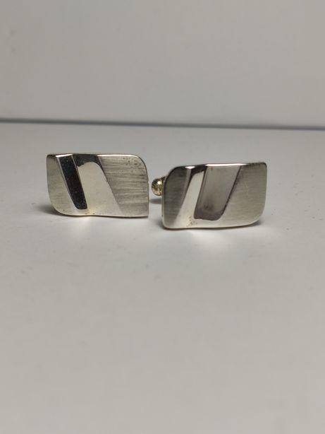 Spinki do koszulki mankietów srebrne srebro 925