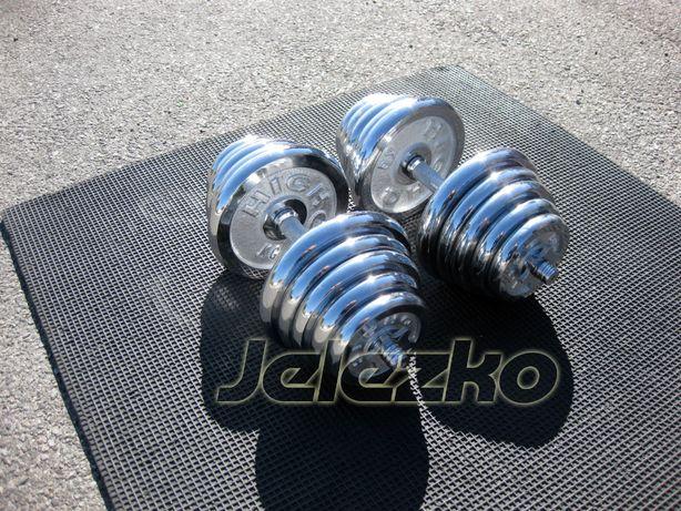 Гантели по 25 кг каждая, наборные хромированные качественные