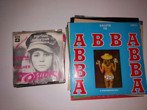 46 discos vinil    varios