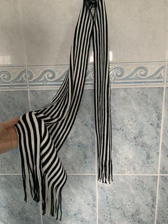 Cachecol - Riscas preto e branco