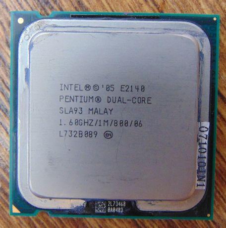 Intel Dual Core E2140 (1,6 ГГц,1M Кэш,800 МГц) socket 775