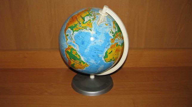 Globus szkolny kula atlas mapa świata topograficzna