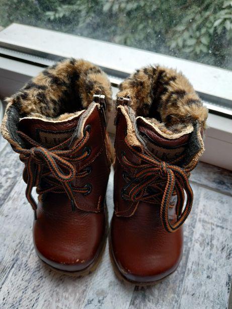 Зимние кожаные ботинки 23 р