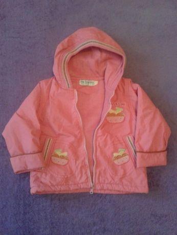 Куртка весенняя для девочки розовая