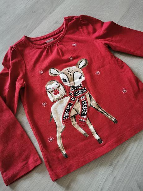 Новогодний реглан с оленем олененок джимбори gymboree новый год