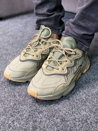 Мужские/женские кроссовки Adidas Ozweego Khaki 36-45 размеры