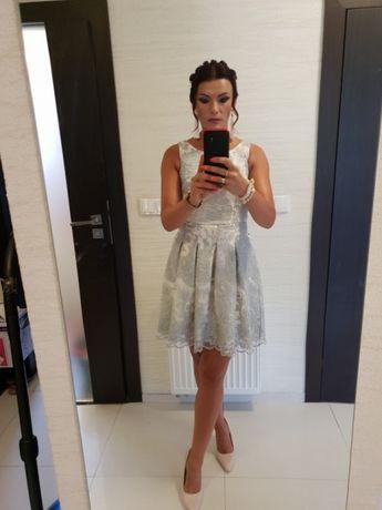 sukienka koronkowa na wesele jak nowa