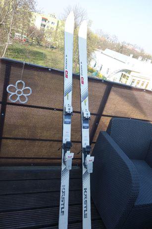 para nart z wiązaniami stare używane narty 178 cm długości