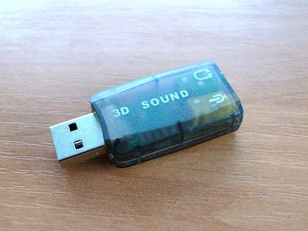 Внешняя USB звуковая карта (аудиокарта)