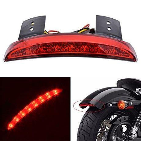 Uniwersalna Lampa Motocyklowa Tył Czerwona Błotnik KATUR 8 LED