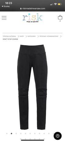 Spodnie DON'T STOP czarne Risk Made in Warszaw