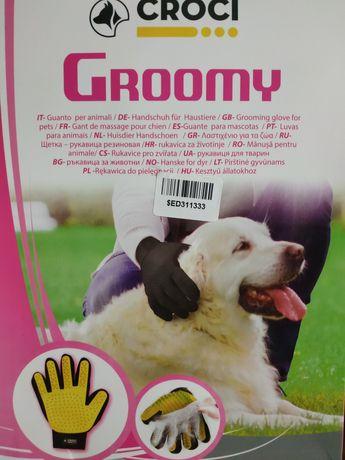 Рукавиця Croci Vanity Groomy для вичісування шерсті розмір М права