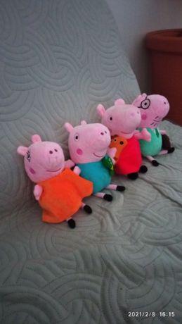 maskotki rodzinka świnki Peppa