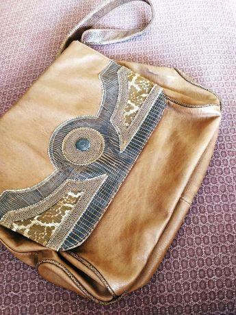 Stylowa torebka / torba brązowa czekoladowa