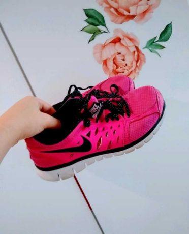 Różowe buty Nike sportowe 38