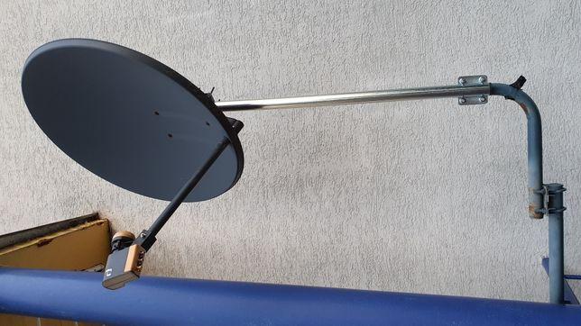 Antena sateritarna z uchytami i konwerterem Quad Inverto HD