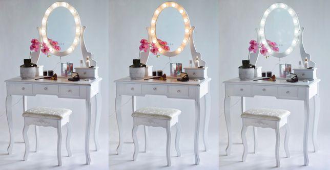 Piękna damska toaletka kosmetyczna LED z 5 półeczkami+ GRATISY