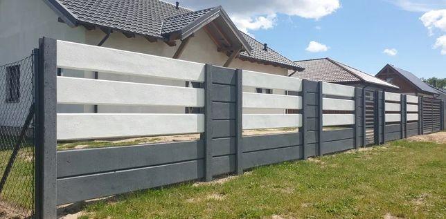Ogrodzenie Betonowe nowoczesne palisady joniec bloczki Dom i Ogród