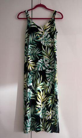 Sukienka midi liście zielona 38