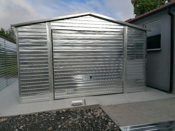 Garaż blaszany , blacha ocynk o wymiarach 5x6