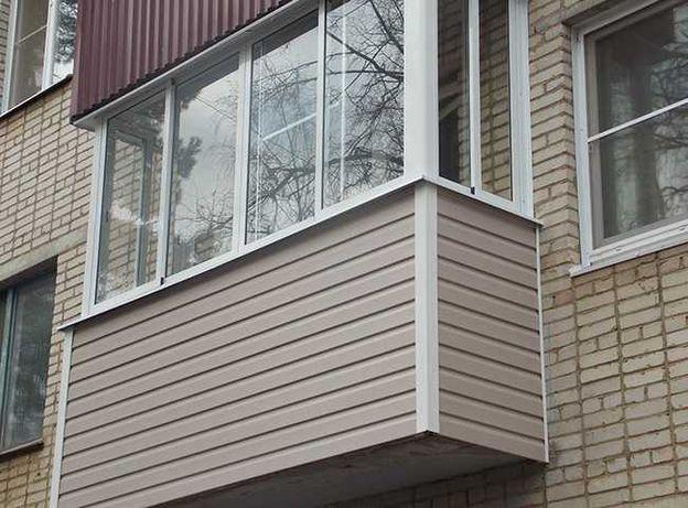 Ремонт и расширение балкона, обшивка внутри и снаружи, остекление