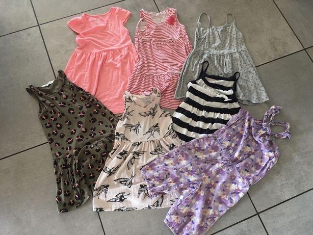 Zestaw sukienek H&M 6 szt. + kombinezon GAP