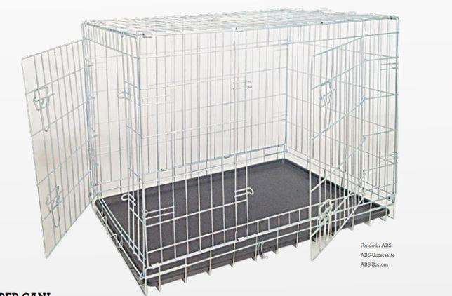 Клетка для собак Croci складная 2 двери цинк, 93*79*68 см