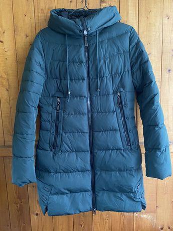 Зимняя удлинённая куртка / пальто биопух