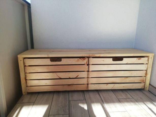Ławka drewniana, meble tarasowe, meble balkonowe