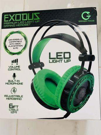 Nowe Słuchawki gamingowe EXODUS dla gracza, pdświetlane