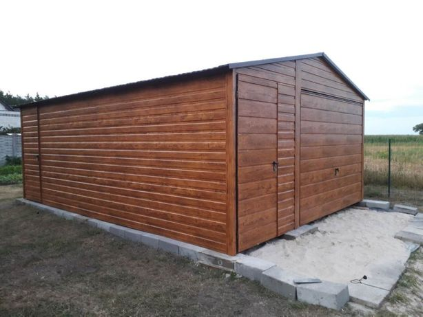 WLKP Nowoczesne garaże drewnopodobne PRODUCENT
