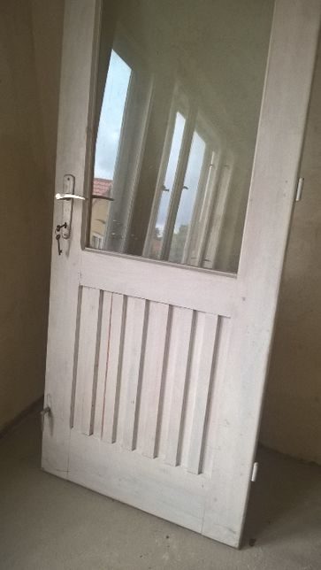 Drzwi balkonowe drewniane z demontażu